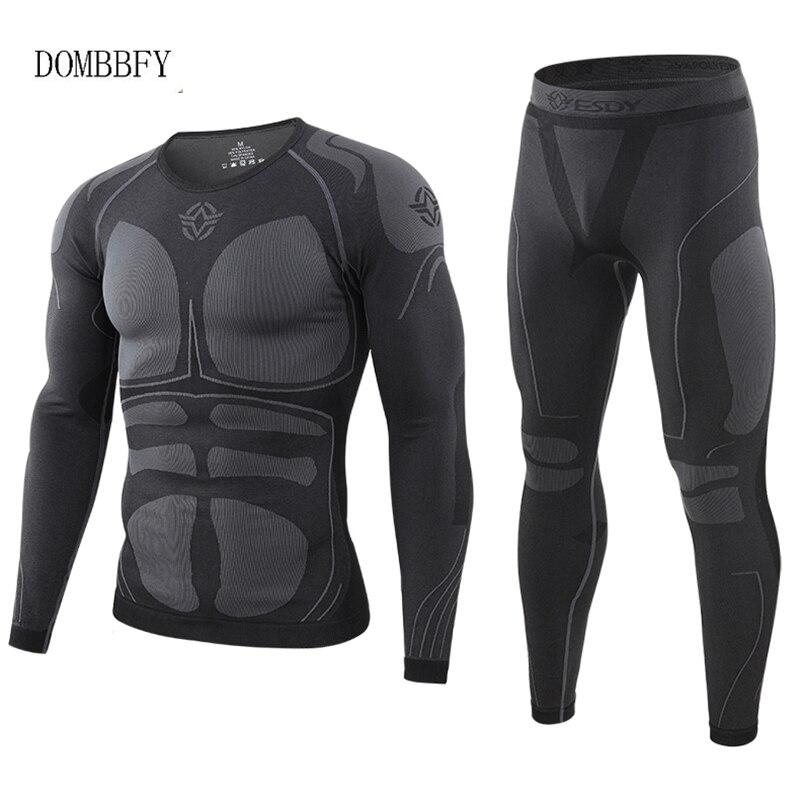 Зимние теплые плотные тактические комплекты термобелья, мужское уличное функциональное дышащее тренировочное термобелье для велоспорта, ...