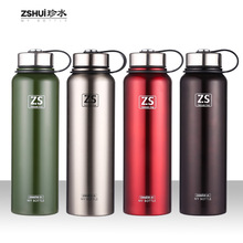 900ml sports bottle 304 stainless steel cover large capacity vacuum flask with rope carrying portable travel cup