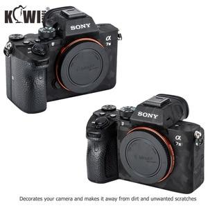 Image 3 - Anti Scratch kamera vücut kapak kaplama çıkartması koruyucu Film seti Sony A7III A7RIII A7 III A7R III A7M3 A7RM3 A7R3 gölge siyah