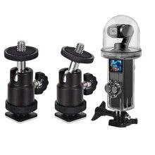 1 Set Mini Ball Head with Hot Shoe Mount Adapter & 1 Set Pocket Dive Case Waterproof Housing Case
