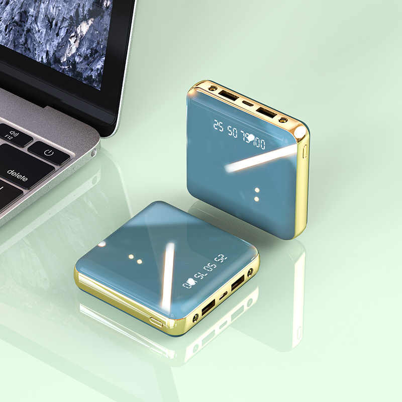 Mini batería externa de 30000mAh, Cargador rápido, LCD tipo C, doble USB, batería externa, cargador para Xiaomi Mi IPhone