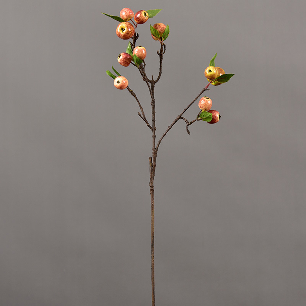 60cm 11 Heads Artificial Mini Apples Tree Flower Branch Real Touch Fake Flowers Simulated Plant Home Garden Wedding Decoration - 2