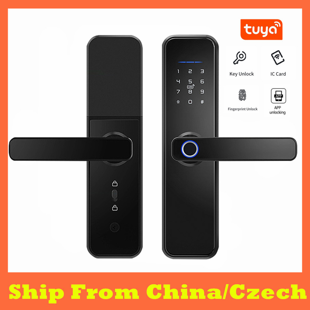 Cerradura Inteligente Tuya Waterproof Smart Fingerprint Door Lck RFID Card Electronic Home Security Lock Password Door Lock