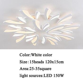 Led ceiling light for living room bedroom White/Black Simple Plafond led ceiling lamp home lighting fixtures AC90-260V 15