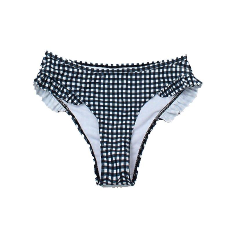 Plaid Sexy Women Bikini Set 2019 New Push Up Ruffles Padded Swimwear Bikini Hot Sale Women Bathing Suit Beachwear Swimming Suit-5