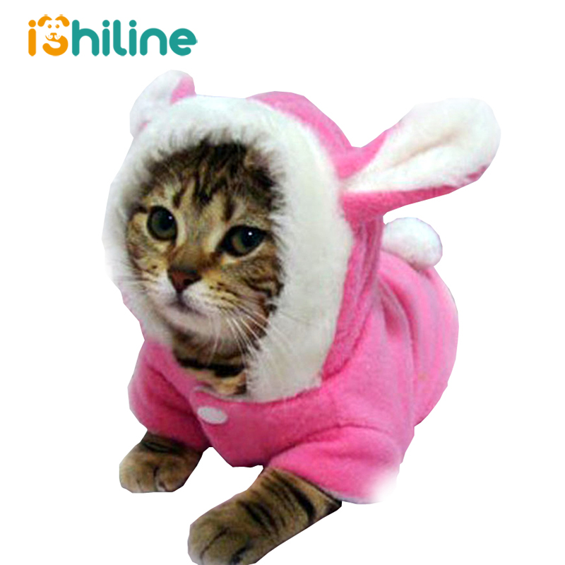 Pet Cat Clothes Mascots Costume Clothes For Pet Hoodies Rabbit Cat Clothing Puppy Fleece Warm Pet Cat Outfit Dog Coat