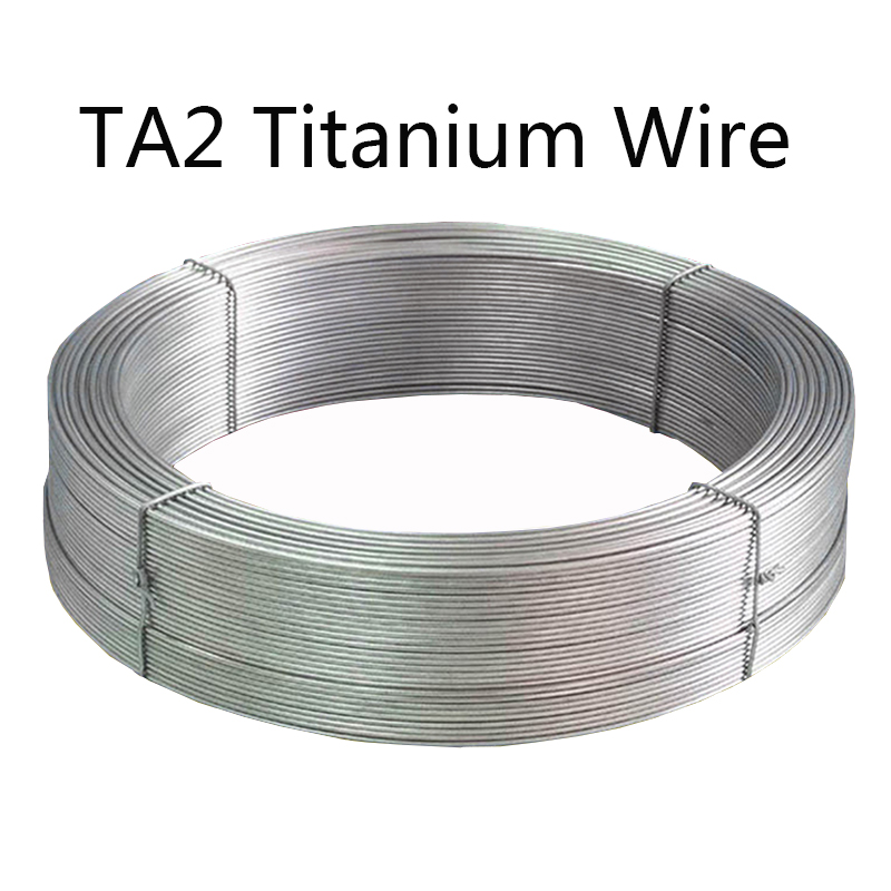 Pure Titanium Wire Disc TA2 Ti  Alloy Alloy Strip Cable Industry Experiment DIY Material Diameter 0.5 0.8 1 1.5 2 2.5 3 4 6 Mm