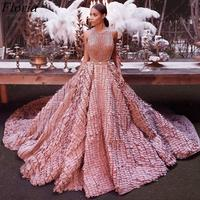 New Pink Special Celebrity Dress 2020 Dubai Couture Glitter Red Carpet Dress Runaway Fashion Show Dress Pageant Gowns Party