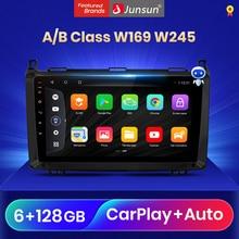 Junsun V3 Qualcomm Android 10 araba radyo multimedya Video oynatıcılar Mercedes Benz A B sınıfı W169 W245 CarPlay oto 2 Din DVD