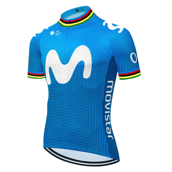 Movistar-maillot de ciclismo para hombre, ropa de bicicleta de secado rápido, maillot...