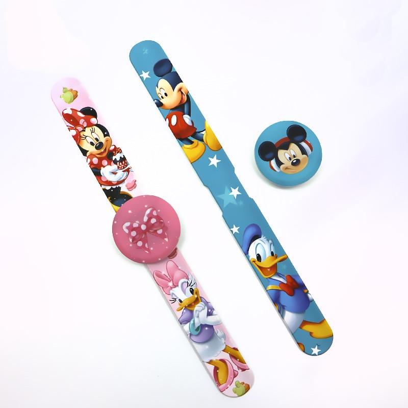 Disney Children's Digital Wristwatch Mickey Mouse Minnie Digital Watch Kids Watches LED Display Complete Calendar Silicone