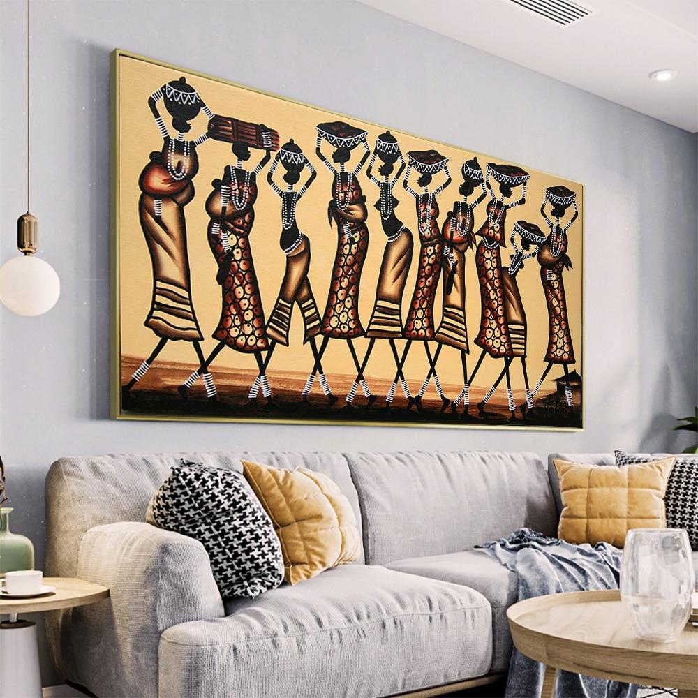 Абстрактный Африканский женский холст фотография и печать современное настенное искусство картина для гостиной домашний декор