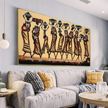 Abstract African Women Canvas Paintings on The Wall Poster and Print Modern Wall Art Picture for Living Room Home Cuadros Decor