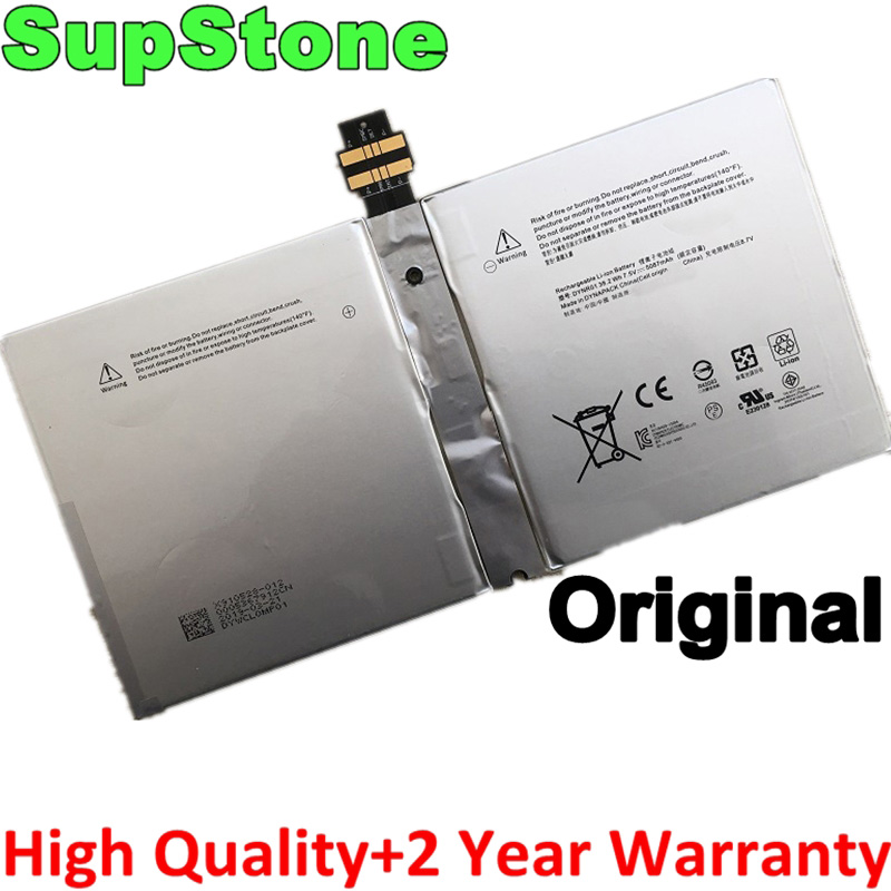 SupStone Genuine Original DYNR01G3HTA027H Laptop Battery For Microsoft Surface Pro 4 1724 12.3