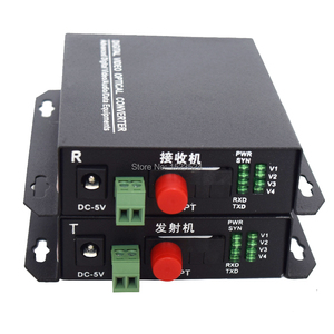 Image 3 - 1 Pair 2 Pieces/lot 4 Channel Video Optical Converter 4V1D Fiber Optic Video Optical Transmitter & Receiver 4CH +RS485 Data