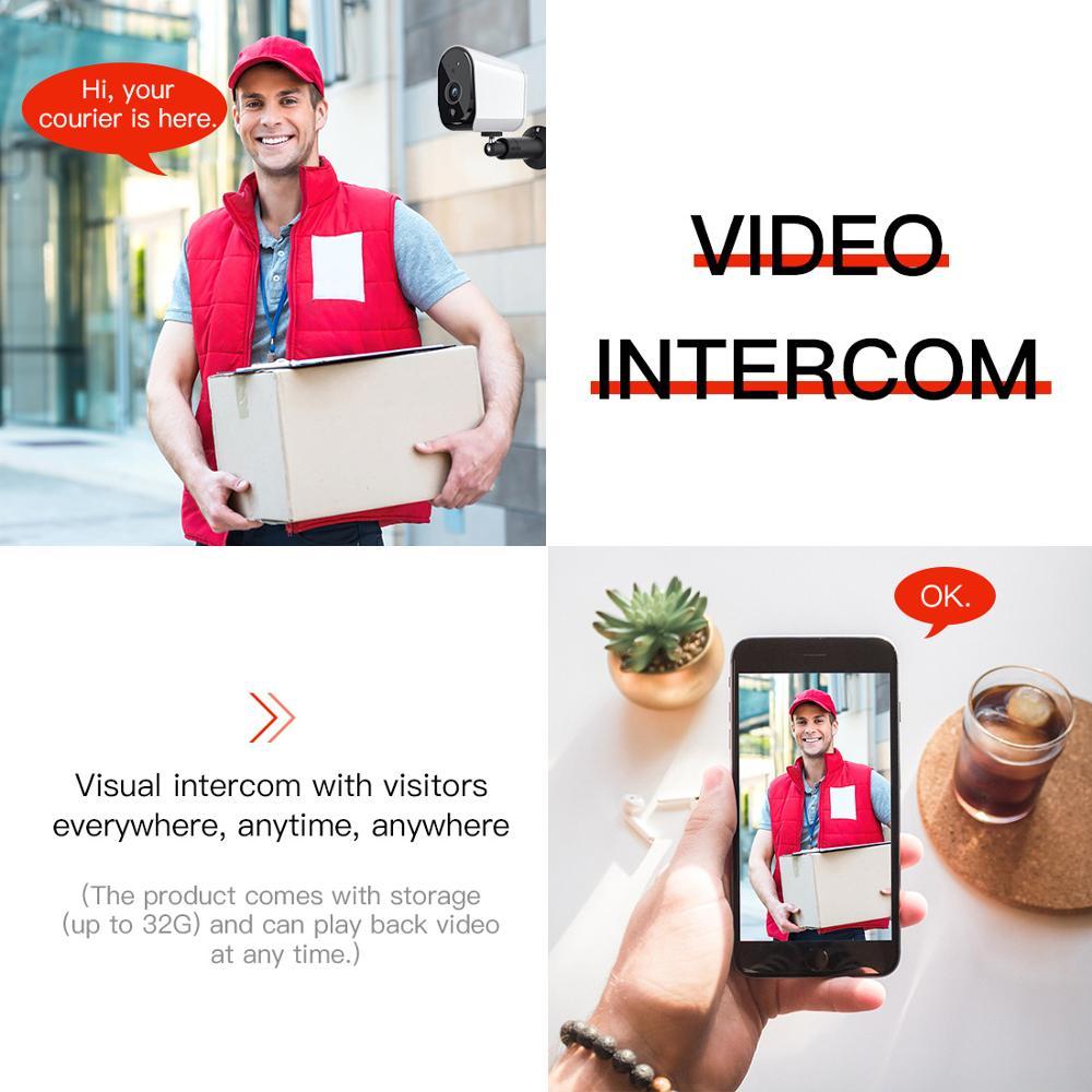 Niższa moc zewnętrzna kamera IP 1080P prawdziwa bezprzewodowa kamera przemysłowa bezpieczeństwo w domu wodoodporna bateria WiFi kamera IP z PIR
