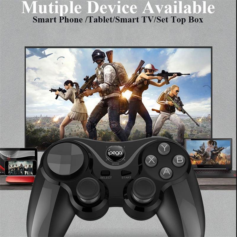 Cep telefonları ve Telekomünikasyon Ürünleri'ten null'de Yeni PG 9128 oyun klavyeler Bluetooth joystick tutucu ile değiştirilebilir çapraz anahtar PUBG için mobil bıçaklar Arena valor lol mobil title=