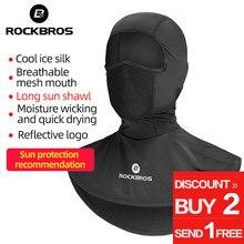 ROCKBROS-mascarilla de ciclismo con protección solar, máscara de rostro pañuelo para correr, senderismo, pesca, deporte, entrenamiento de bicicleta