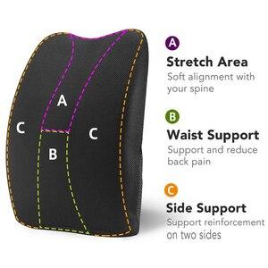 Image 2 - AUTOYOUTH תמיכה המותני קצף זיכרון כרית גב עם כיסוי רשת 3D מאוזן מוצקות תוכנן להקלה על כאב בגב תחתונה