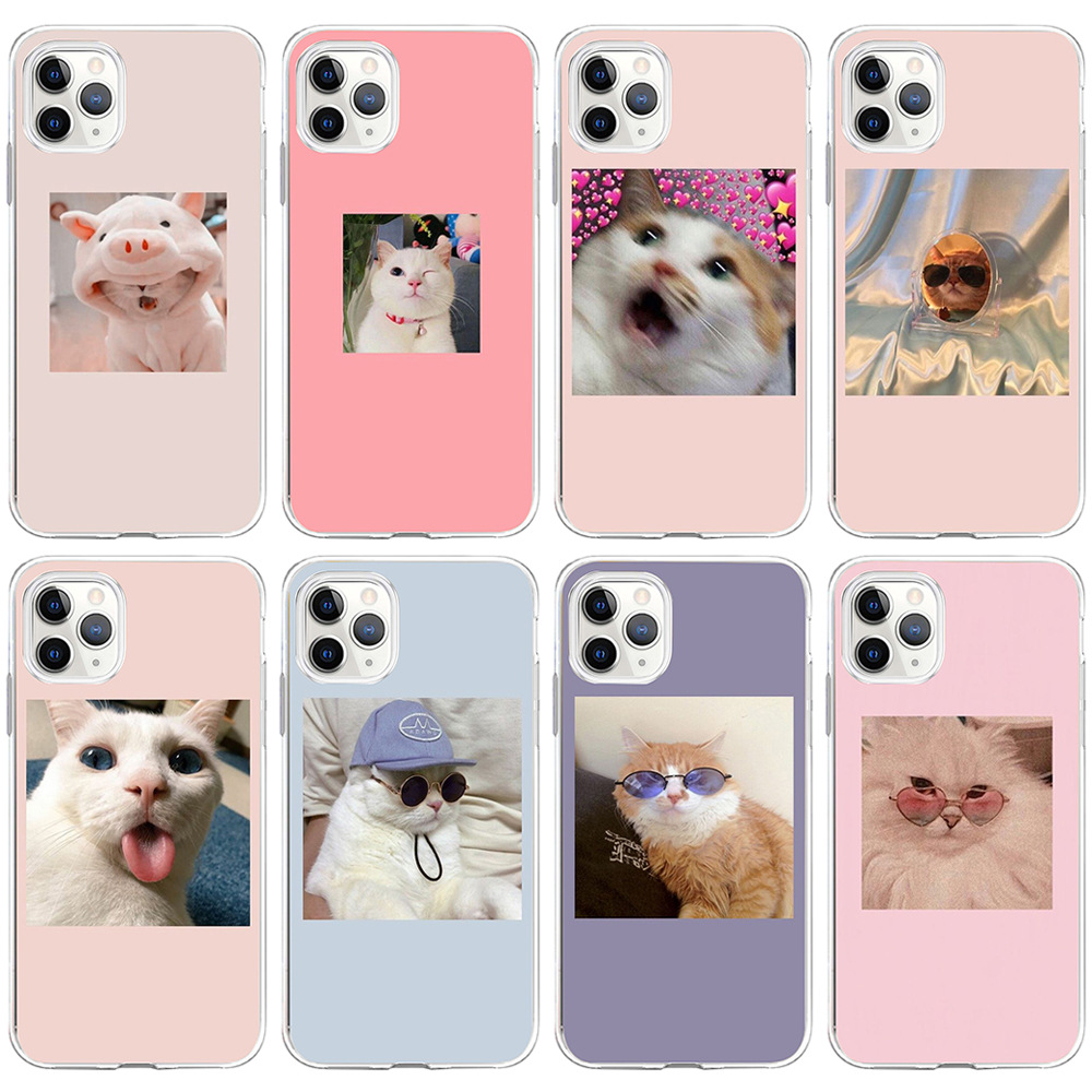 Super Cute Cats Printed Silicone Phone Case For iPhone 12 Pro Max