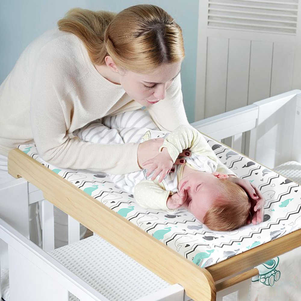 Universal Bassinet Sheets for Boys & Girls, 100% Breathable Cotton Crib Fitted Sheet  Newborn Changing Pad Covers 89*44cm