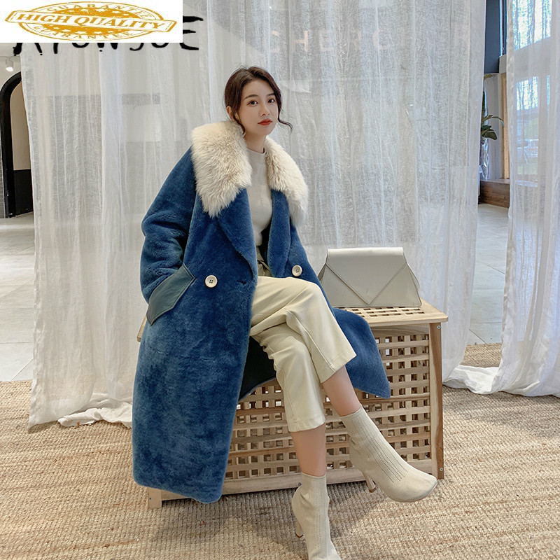Natural Real Fur Coat Women Sheep Shearing Wool Jacket Women Clothes 2019 Winter Coat Women Korean Fur Tops TOM1-88833 YY1840