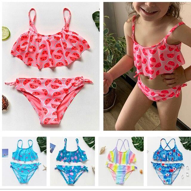 Costume da bagno di alta qualità ragazze due pezzi bambini Bikini  1