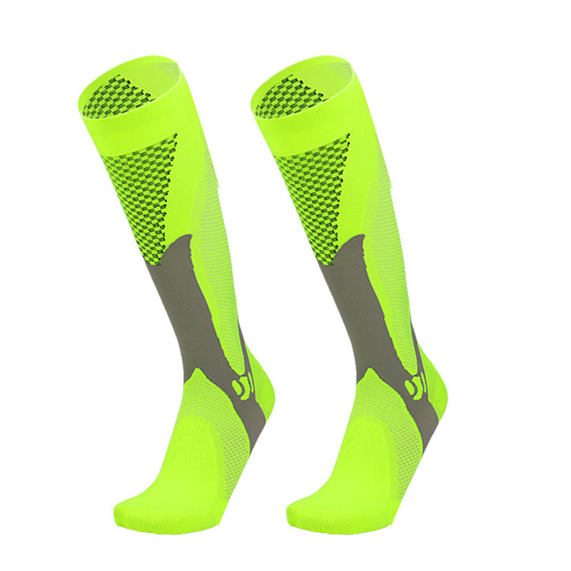 Men Women Compression Running Gym Socks Knee High Support Stockings Breathable Cycling Sports Socks For Socer Basketball Sport
