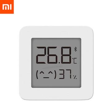 XIAOMI Mijia termometr Bluetooth 2 bezprzewodowy inteligentny elektryczny termometr cyfrowy higrometr praca z aplikacją Mijia tanie i dobre opinie Ready-to-go CN (pochodzenie) Gniazdo XIAOMI Mijia Bluetooth Digital Thermometer 2 2 kanałów