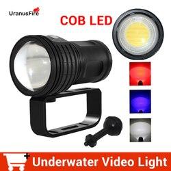 Taktische Unterwasser 100m LED Tauchen Taschenlampe Wasserdichte COB LED 10800Lumen Fotografie Video Füllen Licht Taschenlampe 4*18650 batterie