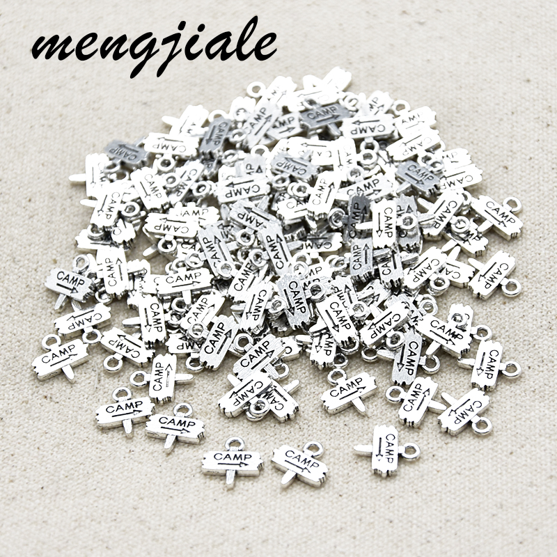 30pcs New style CAMP Charms Street sign Pendants for Necklace Bracelet Jewelry accessories making 13*12mm