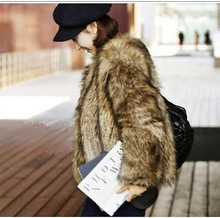 2019 fall and winter large code imitation fur womens coat