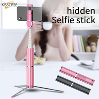 KISSCASE Bluetooth Selfie Stick Portable Handheld Smart Phone Tripod Wireless Remote Control For iPhone 6 6S 7 8 X XS Monopod