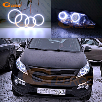 цена на For Kia Sportage SL 2010 2011 2012 2013 2014 2015 Excellent Ultra bright illumination COB led angel eyes kit halo rings