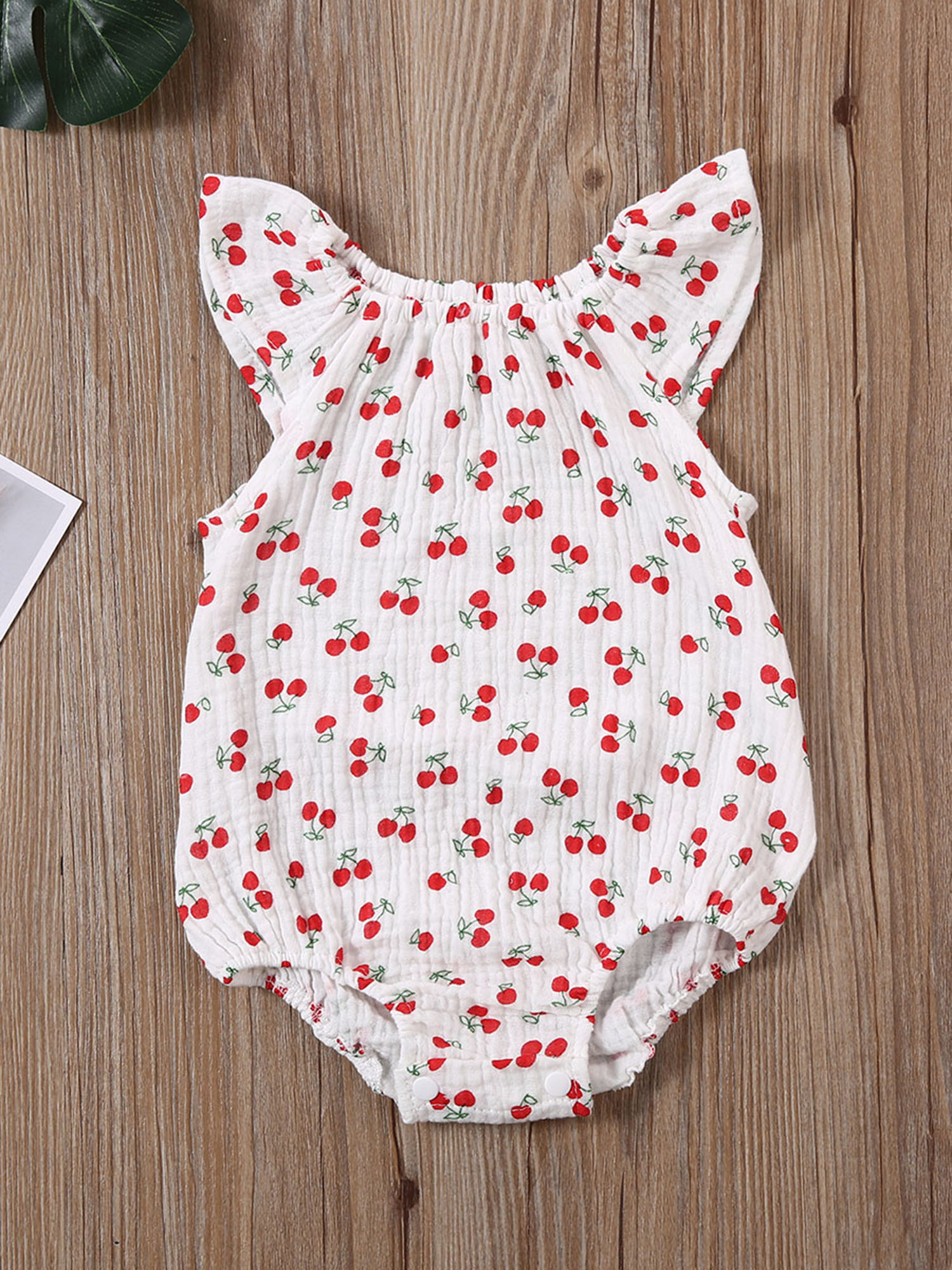 Pudcoco Newborn Baby Boy Girl Clothes Summer Print Fly Sleeve Knitted Cotton Romper Jumpsuit One-Piece Outfit Sunsuit Clothes