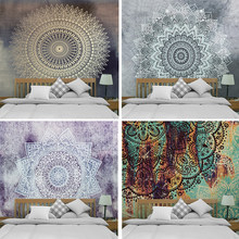Mandala India Bohemian Hippie Tapestry Boho Hippy Wall Hanging Tapestries Carpet Throw Yoga Mat for Home Bedroom Decoration(China)