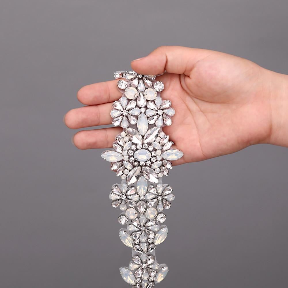 TRiXY S325-P Sparkly Women's Belt Wedding Belt Blue Rhinestone Belt Opal Diamond Bridal Belt Jeweled Belts Bridal Dress Belt