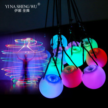 LED Thrown Glow Balls Multi-Colored LED POI Throw Balls For Belly Dance Stage Performance Accessories Colorful Dance Props Balls