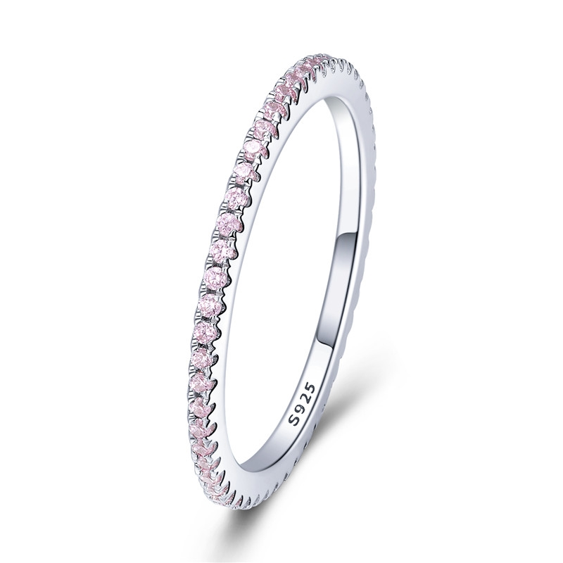 Voroco européen S925 Sterling Silver Ring All-Match Passion For Fashion Jewelry