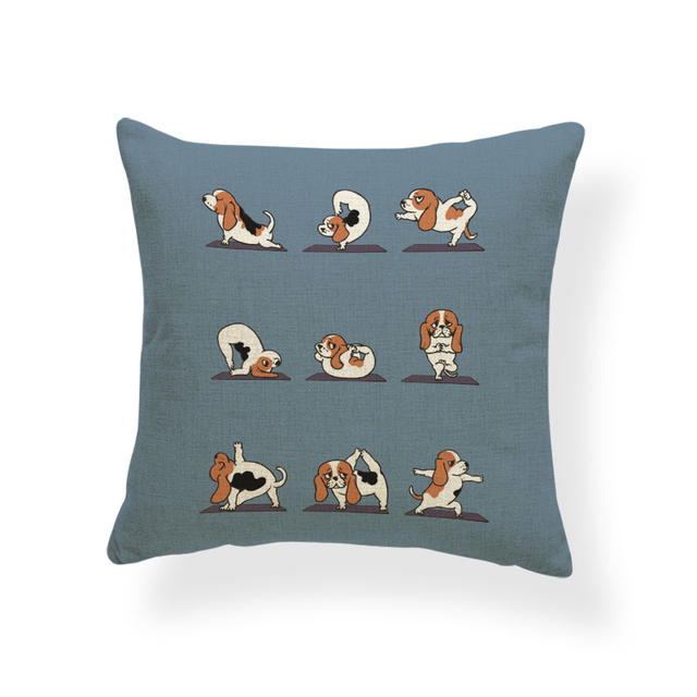 Animal Yoga Cushion Covers 4