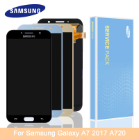 Original for Samsung A7 2017 A720 A720F SM A720F LCD Display Super AMOLED LCD Touch Screen Digitizer Assembly
