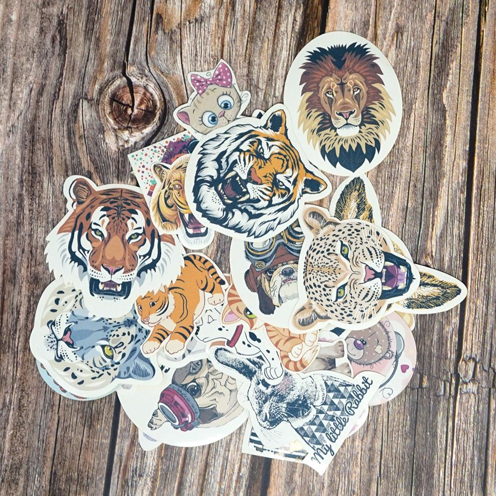 Cool Animal Stickers Scrapbooking Kawaii Gifts Stickers DIY Funny Stickers Kids Classic Toys