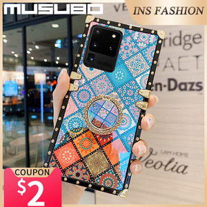 Image 2 - Musubo Luxury Case For Samsung Galaxy S20 Ultra S10 Plus S21 Square Back Cover Note 20 Ultra 10 Plus 9 Fundas Shockproof Coque