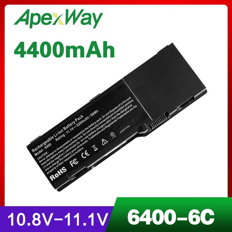 4400mAh <font><b>battery</b></font> for <font><b>DELL</b></font> <font><b>Inspiron</b></font> E1505 6400 <font><b>1501</b></font> Latitude 131L Vostro 1000 451-10339 451-10424 GD761 JN149 KD476 PD942 PD945 image