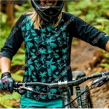Cycling MTB 3/4 Sleeve Men's Downhill Jerseys Mountain Bike Shirts Offroad DH Motorcycle Jersey Motocross Sportwear BMX Clothing custom sublimation print men women downhill dh jersey customized mtb mountain bike motocross motorcycle bmx jerseys no minimum