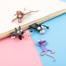Animal Bookmarks School-Stationery Gift Pvc-Material Funny Stereo Cute Cat Children Fashion