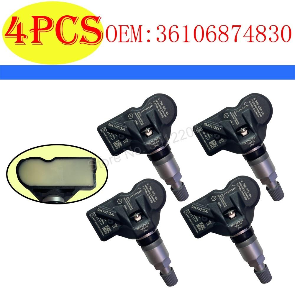 4PCS TPMS 36106874830 36106890964 433MHz CAR TIRE PRESSURE MONITORING SYSTEM FOR BMW 5 6 7 XI X3 X4 36106798872 36 10 6 890 964