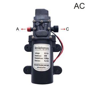 Мембранный насос DC 12В 60 Вт 5л/мин 120PSI самовсасывающий водяной насос высокого давления