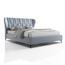 RAMA DYMASTY hakiki deri yumuşak yatak modern tasarım yatak bett, cama moda kral/kraliçe boyutu yatak odası mobilyası