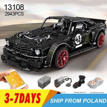 13108 Lepinblocks  RC Technic Car Ford Mustang Hoonicorn With Motor 20102 MOC 22970 Building Block Bricks Educational Toys Gifts